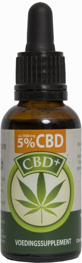 CBD Plus olie 5% (Jacob Hooy) - 30 ml
