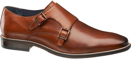 Geklede Schoen 43 Shoe Maat Am Heren Leren Cognac Gespsluiting gI1xfq
