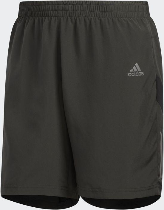 adidas Own The Run Sho Heren Sportbroek - Legend Earth/Black - Maat M 5