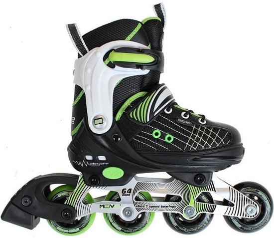 22f50f61ae3 bol.com   Move Skates Skates Move Urban - Unisex - Zwart/Groen ...