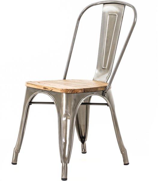 Industrile Metalen Stoel.Legend Cafe Stoel Met Houten Zitting Industrieel Metaal