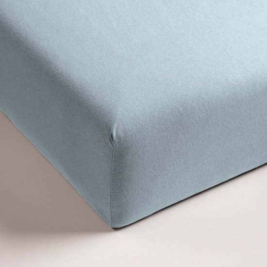 Hoeslaken - Jersey - Lits-Jumeaux – 160 x 220 cm – Licht Blauw