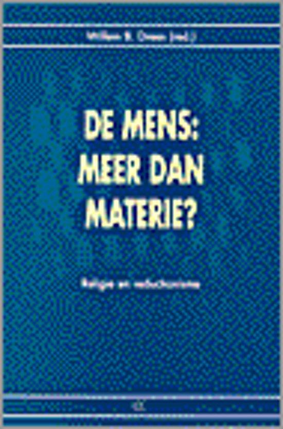 Mens: meer dan materie?