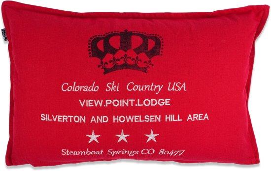 In The Mood Colorado - Sierkussen - 40x60 cm - Rood
