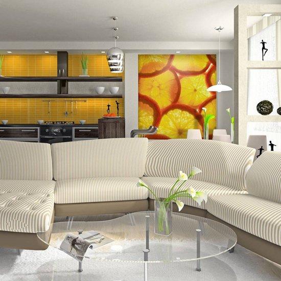 Fotobehang - Gesneden sinaasappel