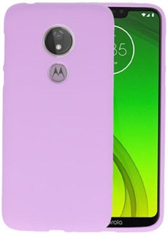 Color TPU Hoesje voor Motorola Moto G7 Power Paars