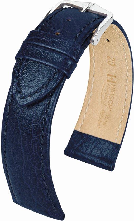 Hirsch Horlogeband -  Highland Donkerblauw - Leer - 14mm