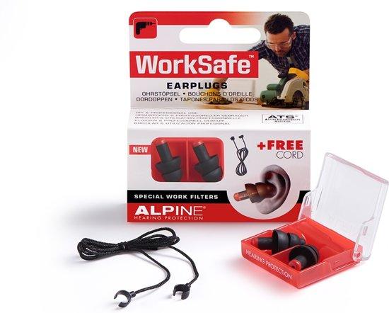 Alpine - Work Safe - Werk - Gehoorbescherming - Oordoppen - 1 paar