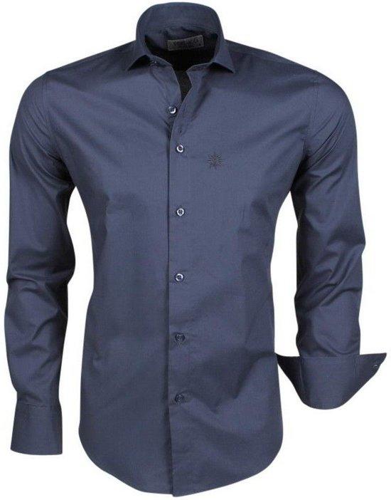 Overhemd Italiaans Design.Bol Com Ferlucci Trendy Italiaans Effen Heren Overhemd Napoli