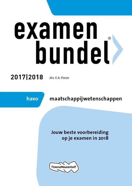 Examenbundel havo Maatschappijwetenschappen 2017/2018 - E.A. Poeze