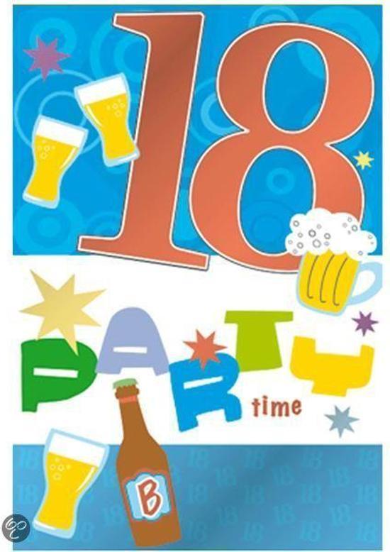 Goede bol.com | Verjaardagskaart 18 jaar YT-84
