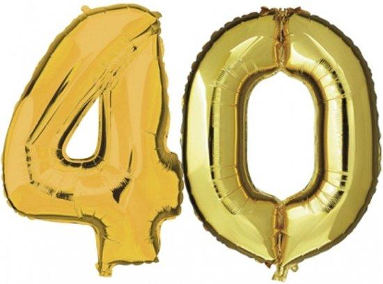 ballonnen 40 jaar bol.| 40 jaar folie ballonnen goud, Fun & Feest Party Gadgets  ballonnen 40 jaar