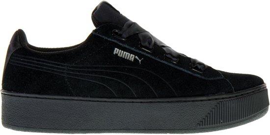 9a2f7cb6437 PUMA Vikky Platform Ribbon S Sneakers Dames - Puma Black-Puma Black