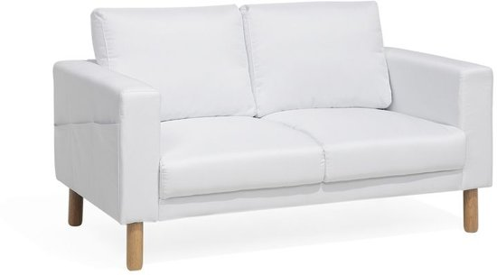 Beliani Averoy Bank Wit polyester