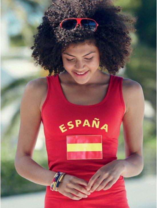 Rode dames tanktop vlag Espana L
