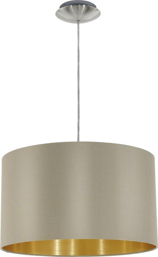 bol.com | EGLO Maserlo - Hanglamp - 1 Lichts - Ø380mm. - Nikkel-Mat ...