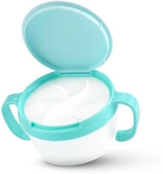 Kinder snack bakje – blauw  Baby   Hersluitbaar   Baby snack kom