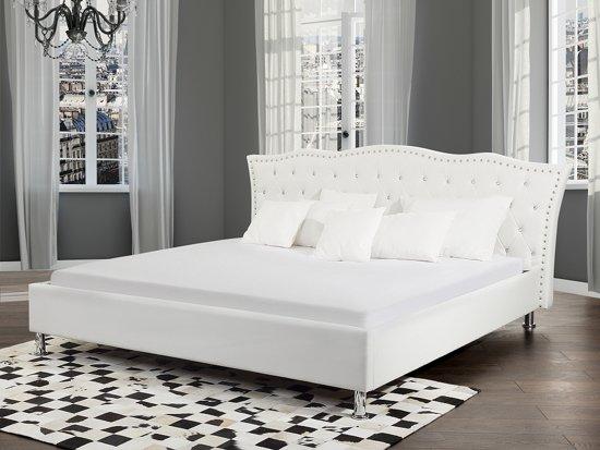 bol bed wit met lattenbodem tweeepersoonsbed 160x200 cm