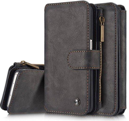 9076f66cd46 bol.com | Zwart 14 vaks 2 in 1 wallet hoesje Samsung Galaxy S8 echt ...