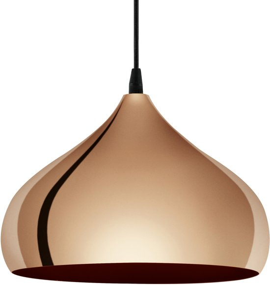 EGLO Hapton - Hanglamp - 1 Lichts - Ø290mm. - Koperkleurig