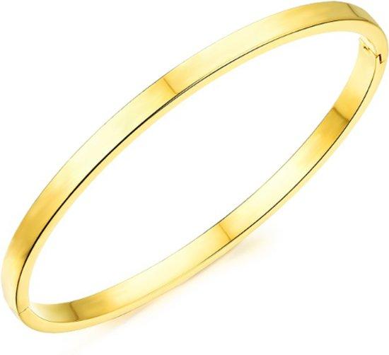bangle | Luxe armband goud kleurig |17 cm