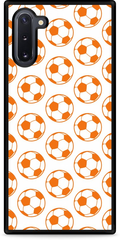 Galaxy Note 10 Hardcase hoesje Orange Soccer Balls