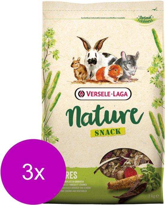 Versele-Laga Nature Snack Fibres - Knaagdiersnack - 3 x 2 kg