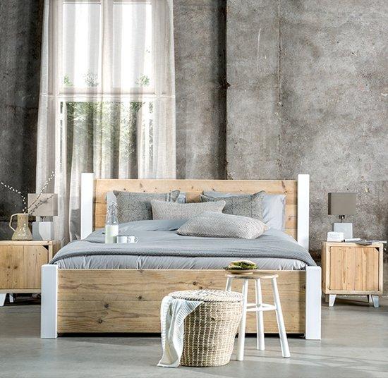 Livengo steigerhouten bed Pura 140 cm x 210 cm