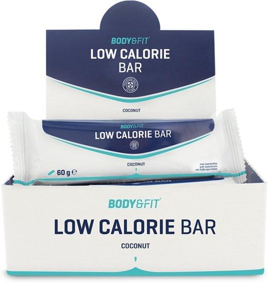 Body & Fit Low Calorie Bar - Maaltijd vervangende eiwitreep - 1 box (12 eiwitrepen) - Coconut