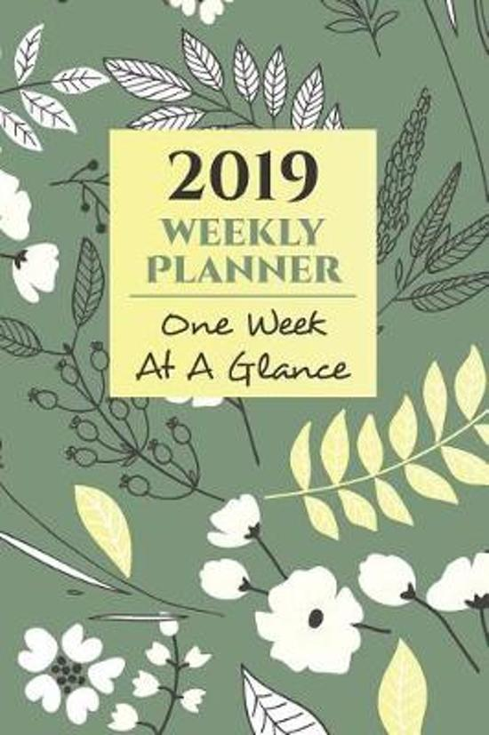 2019 Weekly Planner One Week at a Glance Schedule Organizer