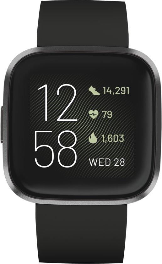 Fitbit Versa 2 - smartwatch - zwart