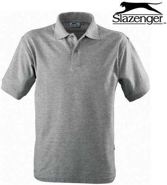 Officiële Website glad authentieke kwaliteit bol.com | Slazenger - Heren polo -Grijs - S