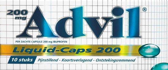 Advil Liquid Caps ibuprofen 200 mg - 10 capsules - Pijnstillers