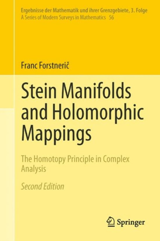 Stein Manifolds and Holomorphic Mappings