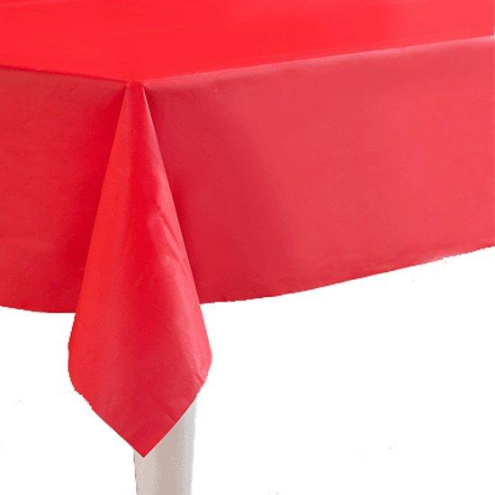 Tafelkleed rood 130 cm X 160 cm