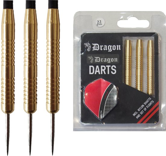Dragon Darts Brass Beginner Darts darts pijlen - 22 gram - dartpijlen