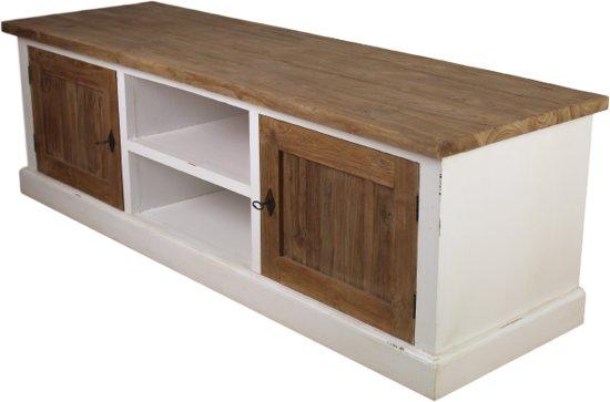Mahonie Tv Meubel : Bol.com tv dressoir 2 deur white wash&teak 160*50*50 mahonie teak
