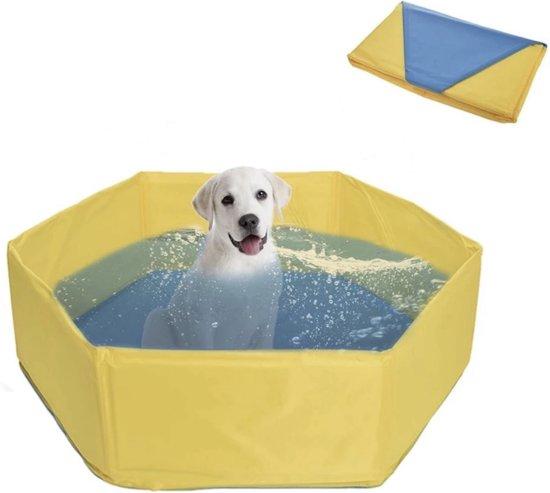 Hondenzwembad 80x30 cm - Geel - Honden Bad - Verkoeling Hond - Zwembad