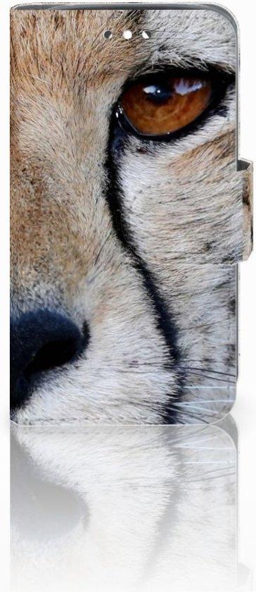 Huawei Y360 Uniek Boekhoesje Cheetah Met Opbergvakjes