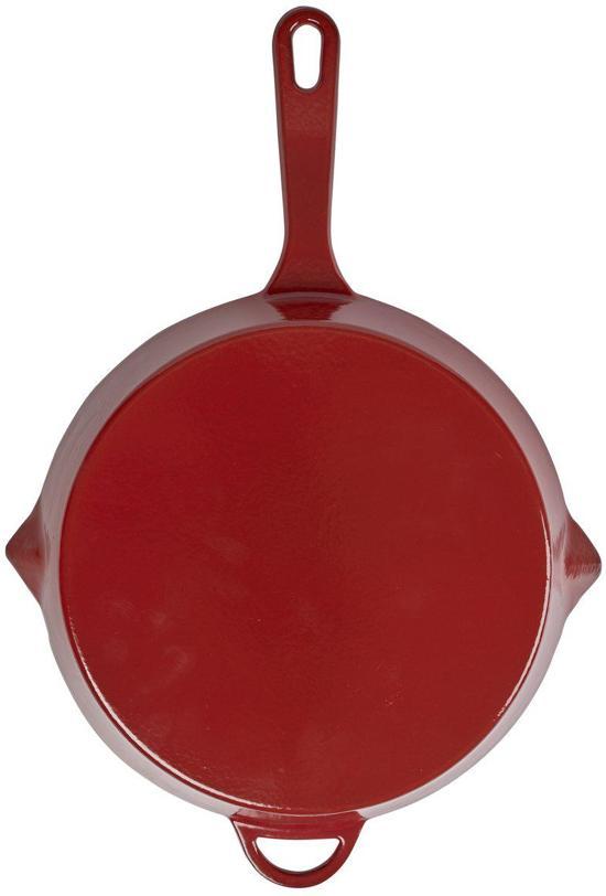 Cuisinova Grillpan Gietijzer Rond 28 cm Rood