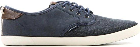 Jack & Jones - Tack Pu Mix - Sneaker laag gekleed - Heren - Maat 42 - Blauw;Blauwe - Navy Blazer