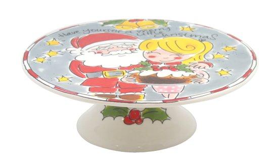 Blond Amsterdam Taartplateau - Kerst - 23 cm - Grijs