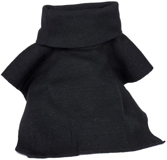 Super bol.com | col sjaal kolletje polo neck zwart DW-89