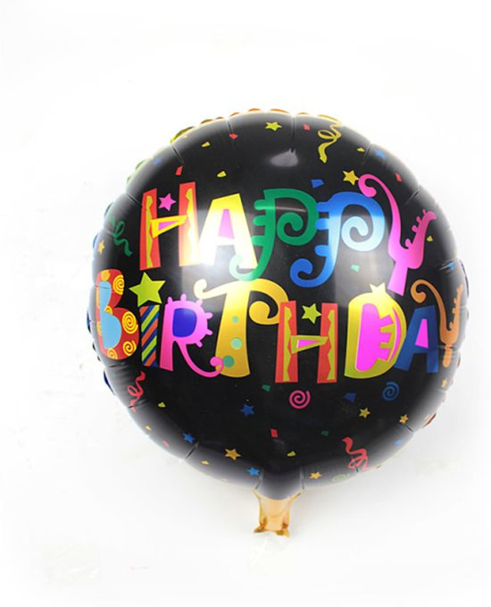 Folieballon Happy birthday Metallic 45 cm
