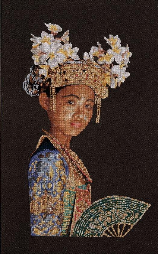 Thea Gouverneur Borduurpakket 948 Indonesische danseres - Linnen stof