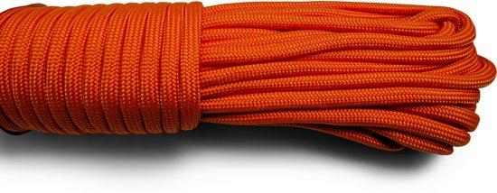 Paracord - Touw - 6 mm - 20 meter - Oranje -  Vismagneet touw - Magneetvissen touw-  400 kg trekkracht