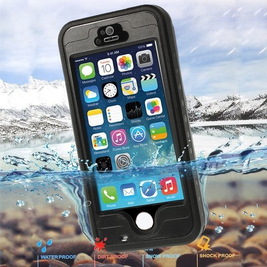 578c6bdbe9a GadgetBay Waterdicht Hoesje iPhone 5 5s SE Waterproof hardcase - IP68 -  Zwart