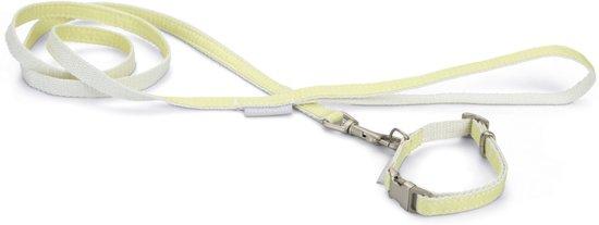 Beeztees Jicca Puppyset - Hondenhalsband+Looplijn - Geel