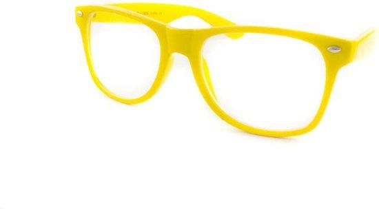 d4d9c69b2c3fb7 Wayfarer nerd bril zonder sterkte geel
