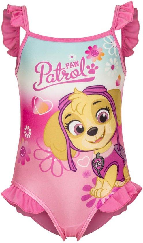 Badpak Paw Patrol roze maat 9 maand